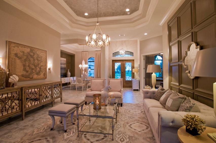 Pizzazz Interiors - Greenbriar Living Room - Naples, FL