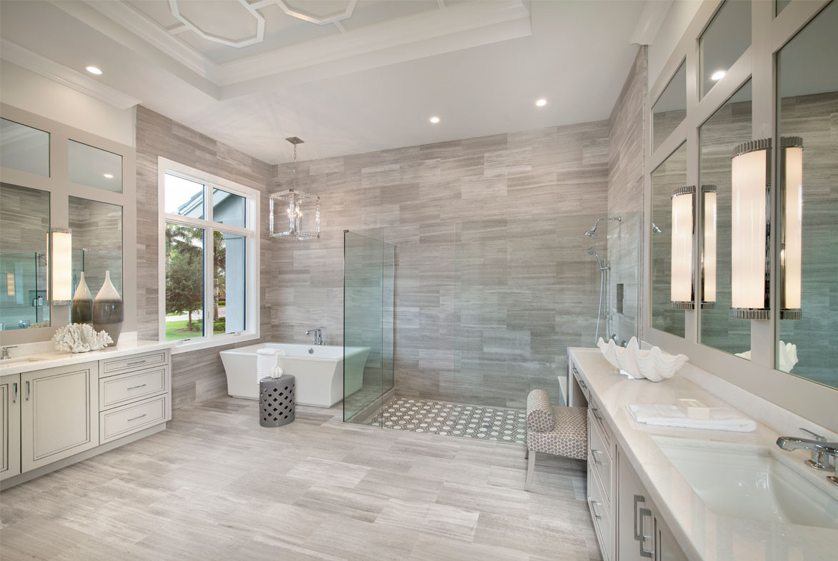 Clairborne Master Bath - Pizzazz Interiors - Naples, FL
