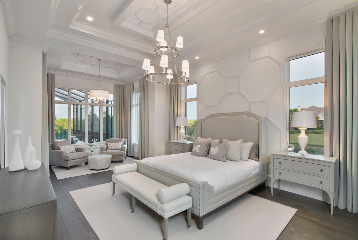 Clairborne Master Bedroom - Pizzazz Interiors - Naples, FL
