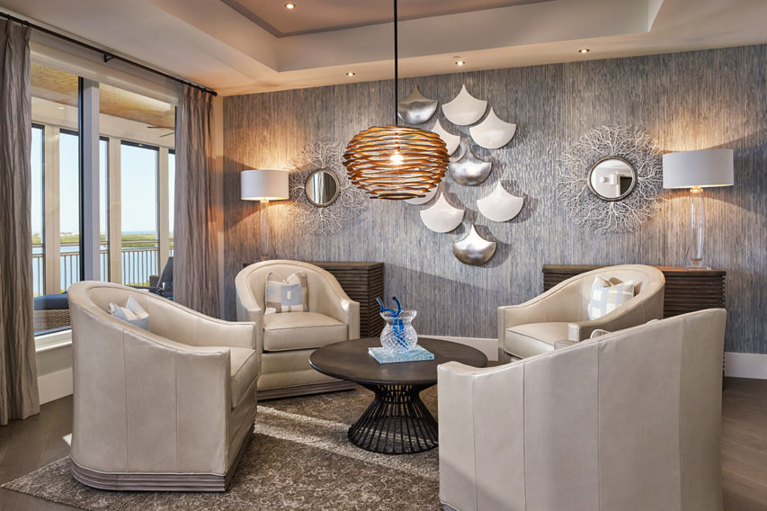 BonitaBay PR Family Room - Pizzazz Interiors - Naples, FL